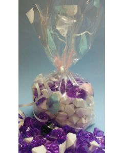 Bags - Candy Bags - 5''W x 2 ½''G x 12 ¼''H - Designs - Balloons baby blue pink white