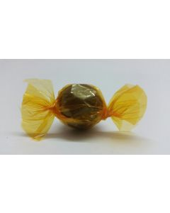 """Caramel Candy Wrappers Sheets - 4"""" x 4""""- Transparent Amber"""