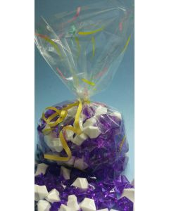 Bags - Candy Bags - 3''W x 1 ½''G x 11''H - Designs - Spills Pink Yellow Sea foam