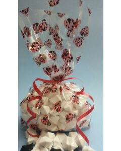 Bags - Candy Bags - 4''W x 2 ½''G x 10 ¼''H- Lady bugs