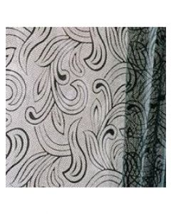 Sheets - 20'' x 30'' - Organza cello lace - Black