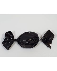 "Caramel wrapper - 3"" x 4"" - Opaque Black"