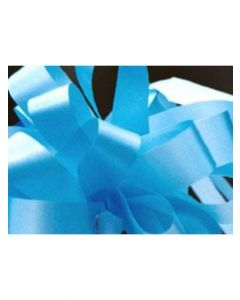 5'' Poly Embossed PullBow - Pastel Blue