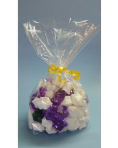 Bags - Candy Bags - 5''W x 2 ½''G x 12 ¼''H - Clear