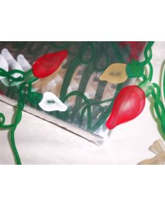 Close outs - Sheets - 7 ½'' x 7 ½'' - Christmas lights gold, red and white