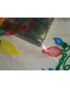 Close outs - Sheets - 7 ½'' x 7 ½'' - Christmas lights red, blue and yellow