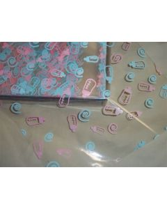 Close outs - Sheets - 7 ½'' x 7 ½'' - Baby Bottles pink and blue