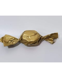 "Caramel wrapper - 3"" x 4"" - Opaque Gold"
