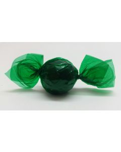 """Caramel Candy Wrappers Sheets - 4"""" x 4""""- Transparent green"""
