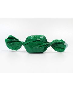 "Caramel wrapper - 3"" x 4"" - Opaque Green"