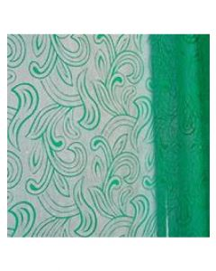 Sheets - 20'' x 30'' - Organza cello lace - Green