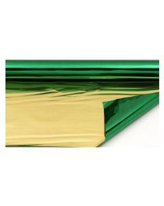 Sheets - 7 ½'' x 7 ½'' - Metallized 2 sides - Green and Gold