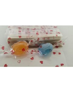 """Caramel Candy Wrappers Sheets - 4"""" x 4""""- Hearts"""