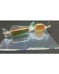 """Caramel Candy Wrappers Sheets - 4"""" x 4""""- Iridescent"""