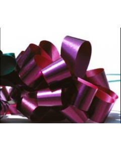 5'' Metallic Embossed Pullbow - Burgundy