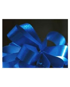 5'' Metallic Embossed Pullbow -  Royal