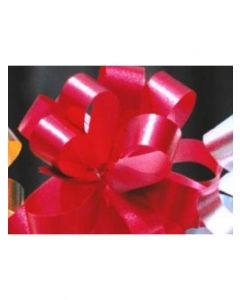 5'' Metallic Embossed Pullbow -  Red