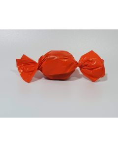 "Caramel wrapper - 3"" x 4"" - Opaque Orange"