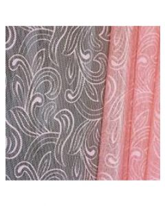 Sheets - 20'' x 20'' - Organza cello lace - Pink
