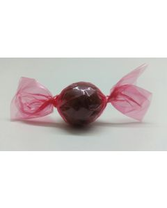 """Caramel Candy Wrappers Sheets - 4"""" x 4""""- Transparent Pink"""