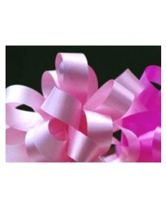 5'' Poly Embossed PullBow - Pastel Pink