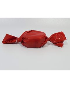"Caramel wrapper - 3"" x 4"" - Opaque Red"