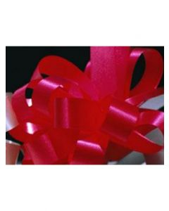 5'' Poly Embossed PullBow - Red