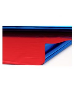 Sheets - 10'' x 12''- Metallized 2 sides - Red and Blue