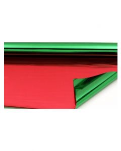 Sheets - 9'' x 9'' - Metallized 2 sides -  Red and Green