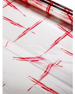 Sheets - 40'' x 40'' - Designs- Red Brush Strokes