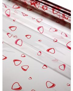 Sheets - 40'' x 40''- Designs- Red Hearts