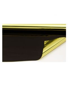 Rolls - 20'' x 100' - metallized 2 sides - Gold and Black