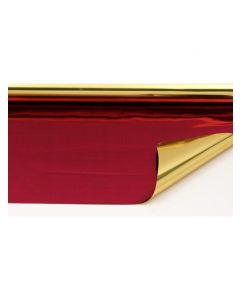 Rolls - 20'' x 100' - metallized 2 sides - Gold and Cranberry