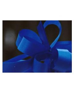 8'' Poly Embossed PullBow - Royal