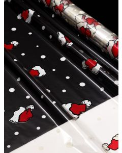 Sheets - 30'' x 40'' - Designs- Santa Hats Red White Black