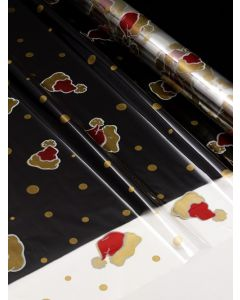 Sheets - 40'' x 40''  - Designs- Santa Hats Red White Gold