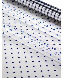 Sheets - 40'' x 40'' - Designs- Small Blue Dots