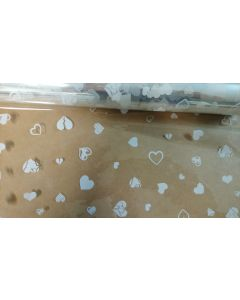 Rolls - 40'' x 1000' - Designs - Small hearts White