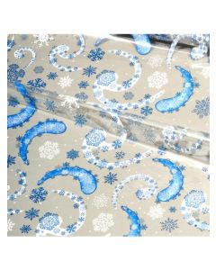 Sheets - 12'' x 20''- Designs- Snow Flakes Blue/White