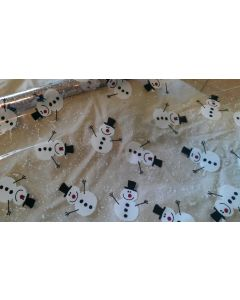 Sheets - 12'' x 20''- Designs- Snow man black and red
