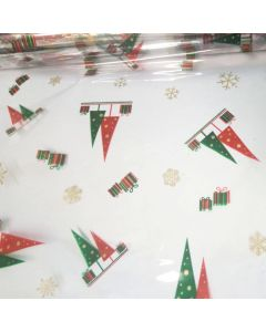 Sheets - 9'' x 9'' - Designs - Trees and presents Gold Red Green