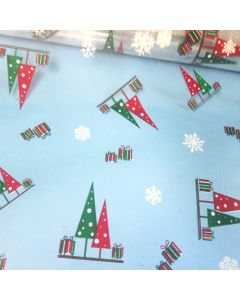 Sheets - 40'' x 40'' - Designs - Trees and presents White Red Green
