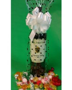 Bags - Wine Bottle Bags - 6''W x 18''H - Printed on Clear - Black Dots