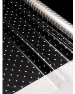 Flower Wrappers - 14'' x 18'' - Designs - White Dots