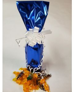 Bags - Wine Bottle Bags - 6''W x 18''H - Metallized Blue