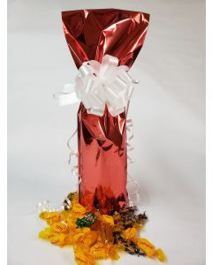 Bags - Wine Bottle Bags - 6''W x 18''H - Metallized Red